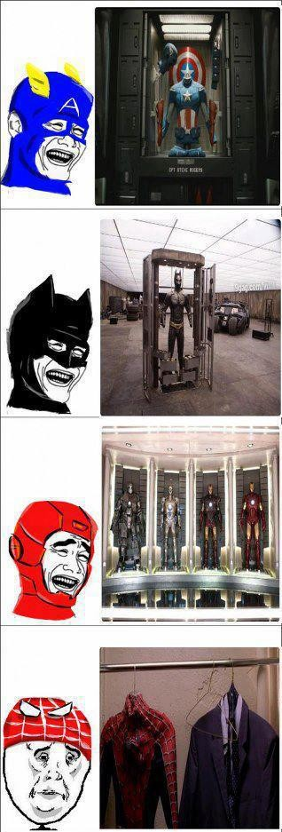 batman,capitan america,iron man,pobre,spiderman,trajes,yaoming