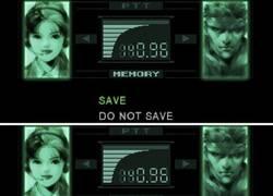 Enlace a Guardando la partida en Metal Gear Solid