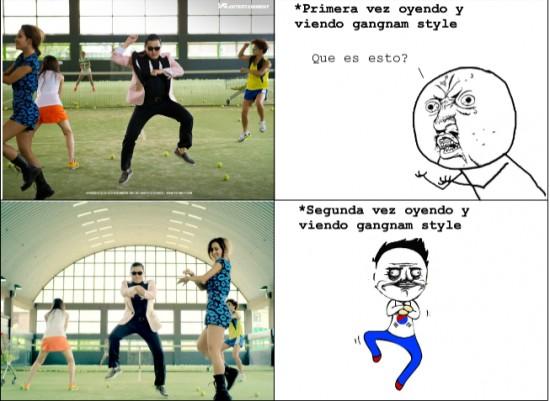 Gangnam style,Me gusta,Y U NO