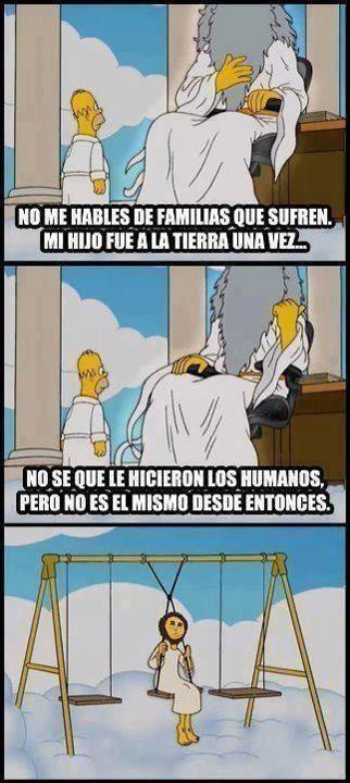 cielo,ecce homo,jesús,simpson,tierra