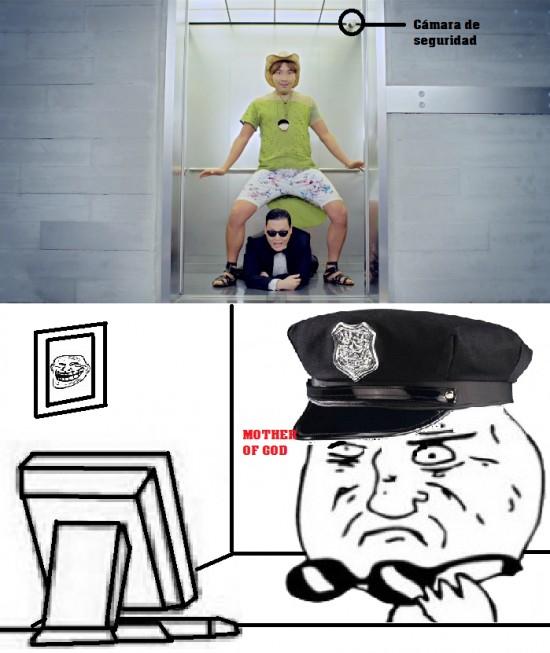 ascensor,Gangnam,mother of god