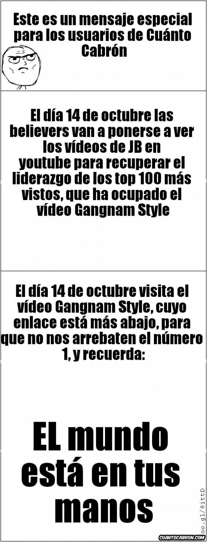 Bieber,Comunicado,Gangnam,Importante,Justin,Style