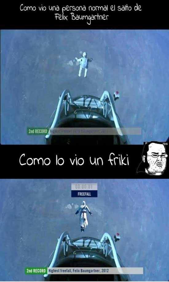 Friki - El salto de Felix Baumgartner visto por un friki