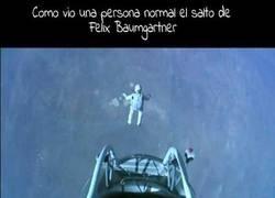 Enlace a El salto de Felix Baumgartner visto por un friki