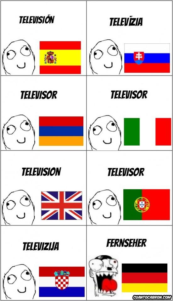 alemania,chillando,idioma raro,países normales
