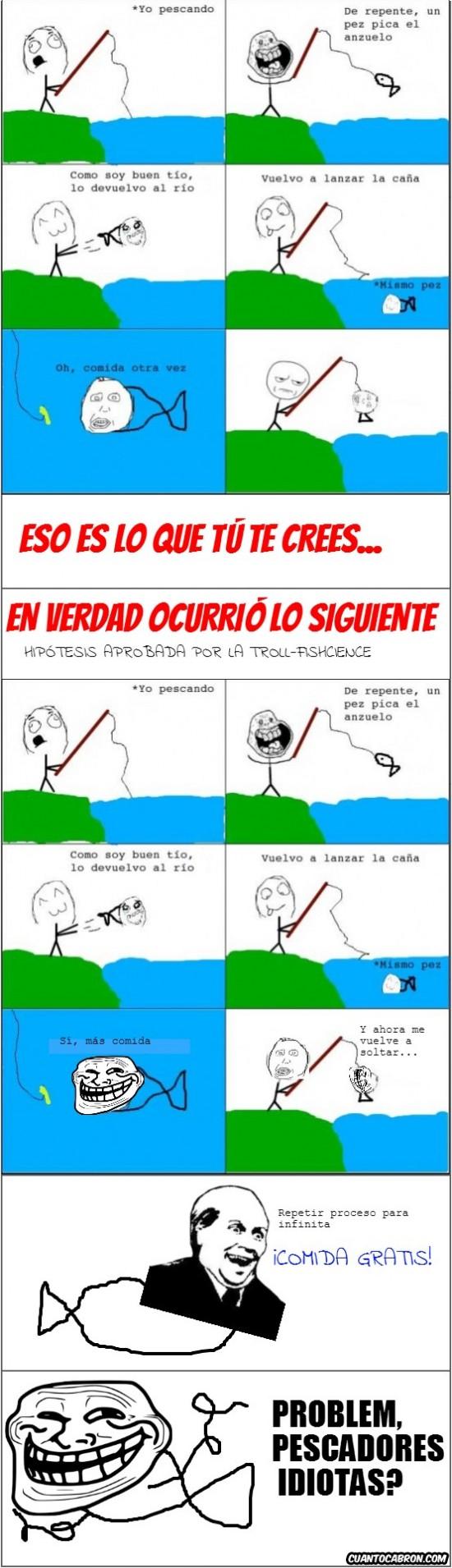 comida,gratis,idiota,its free,pescar,pez,troll