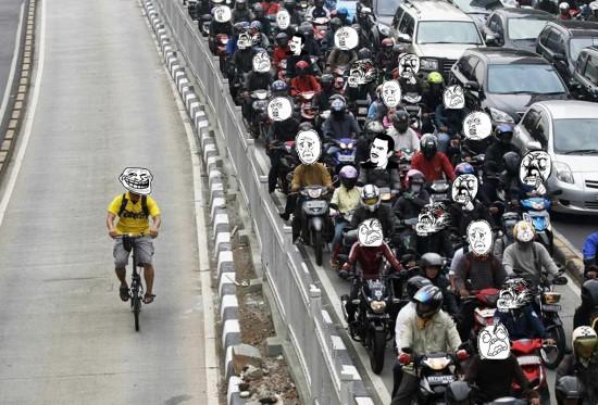 Trollface - La bici y sus ventajas