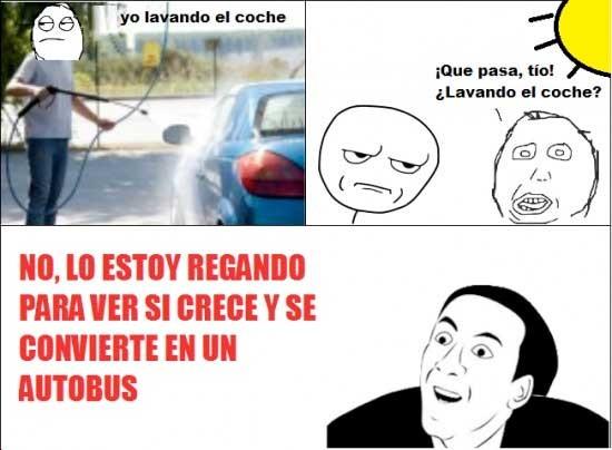 autobus,chiste,coche,lavar,regar