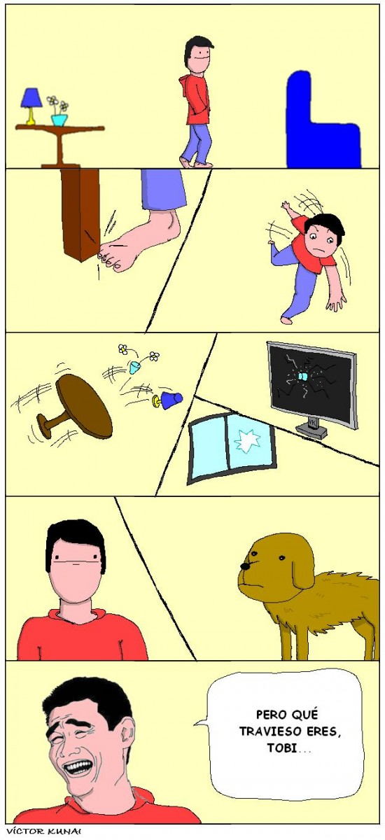 Yao - ¿A quién le vas a echar la culpa? A tu perro