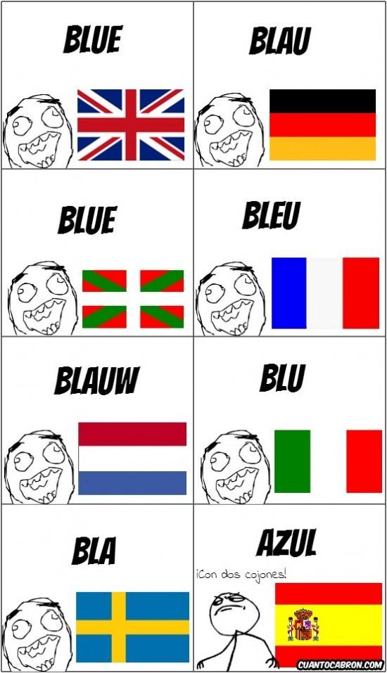 azul,banderas,blue,castellano,cojones,colores,español,idiomas,países