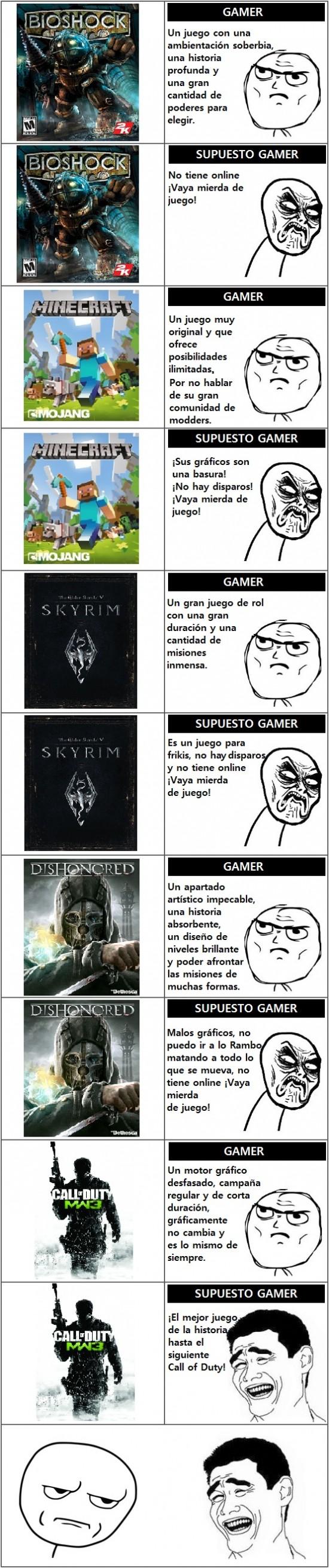 Kidding_me - Sutiles diferencias entre gamers