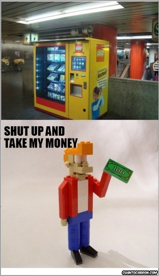 expendedora,lego,maquina,shut up and take my money