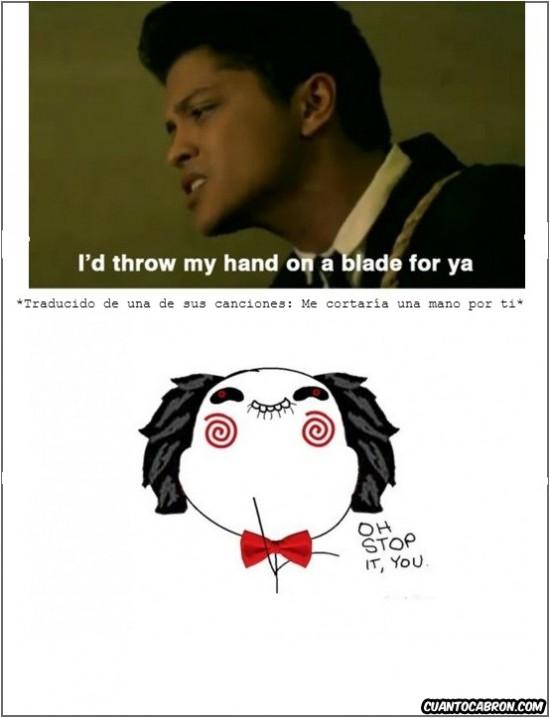 Otros - Bruno Mars va provocando a Jigsaw