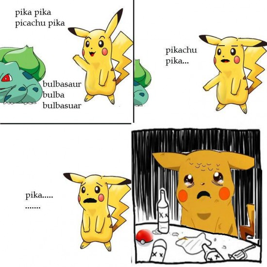alcoholico resentido,bulbasaur,pika,pikachu,pokémon