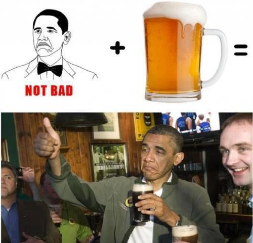Not_bad - Obama celebrando su reelección