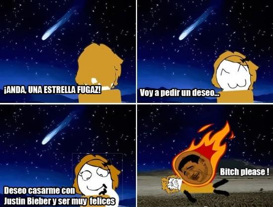 deseo,estrella,fugaz,jb,justin bieber,meteorito,muerte