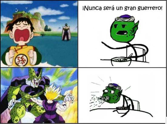 Cell,cereal guy,DRZ,gohan,piccolo