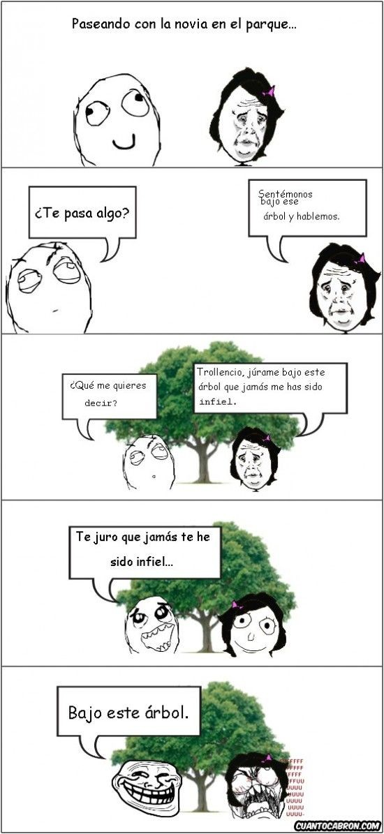 Trollface - Júramelo bajo el árbol