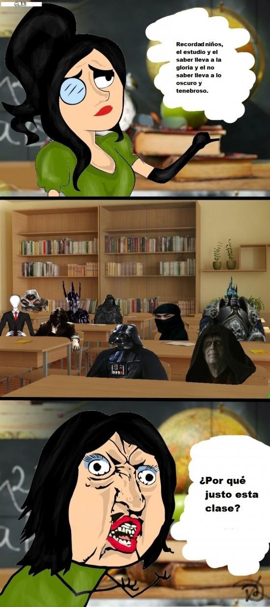 clase,estudio,malos,ocuro,villanos