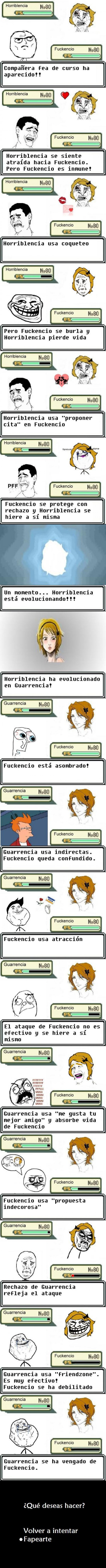 batalla pokemon,Foreveralone,friendzone,fry,guarrencia,infinito desprecio,instituto,venganza,yaoming