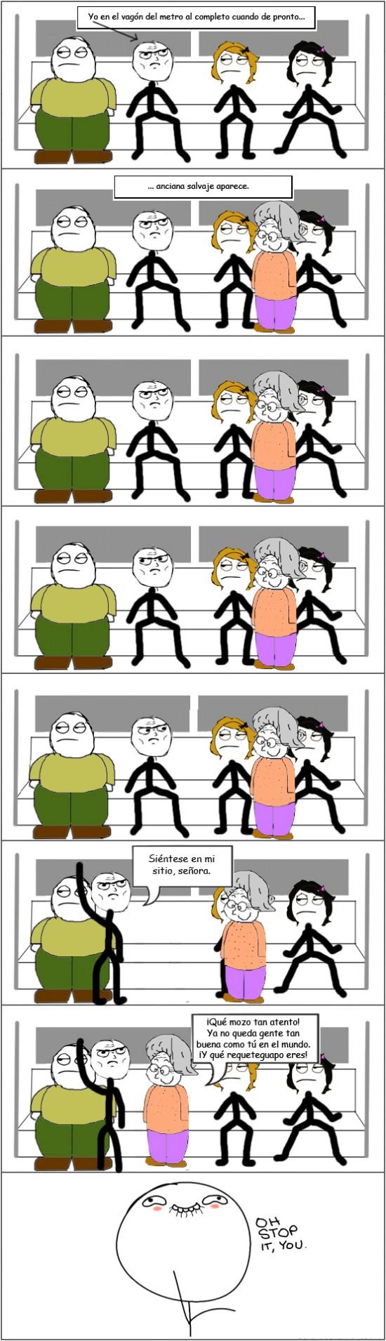 Otros - Anciana en el metro