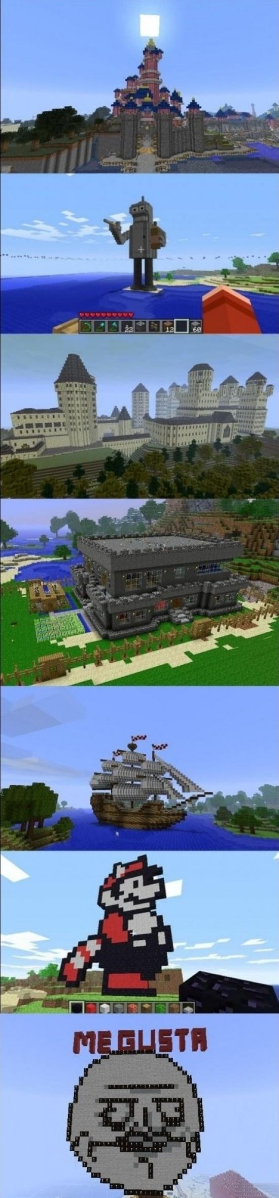 arte,barco,bender,castillo,construcciones,mario,me gusta,minecraft