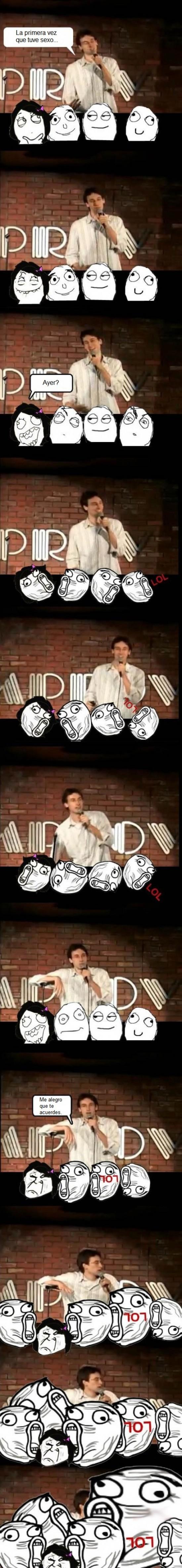 chica,comedia,comico,lol,monologuista,primera,stand-up,trolleada,vez