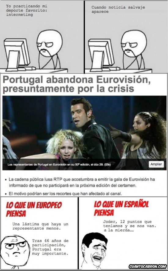 abandona,Eurovision,fin para España,Portugal,yaoming
