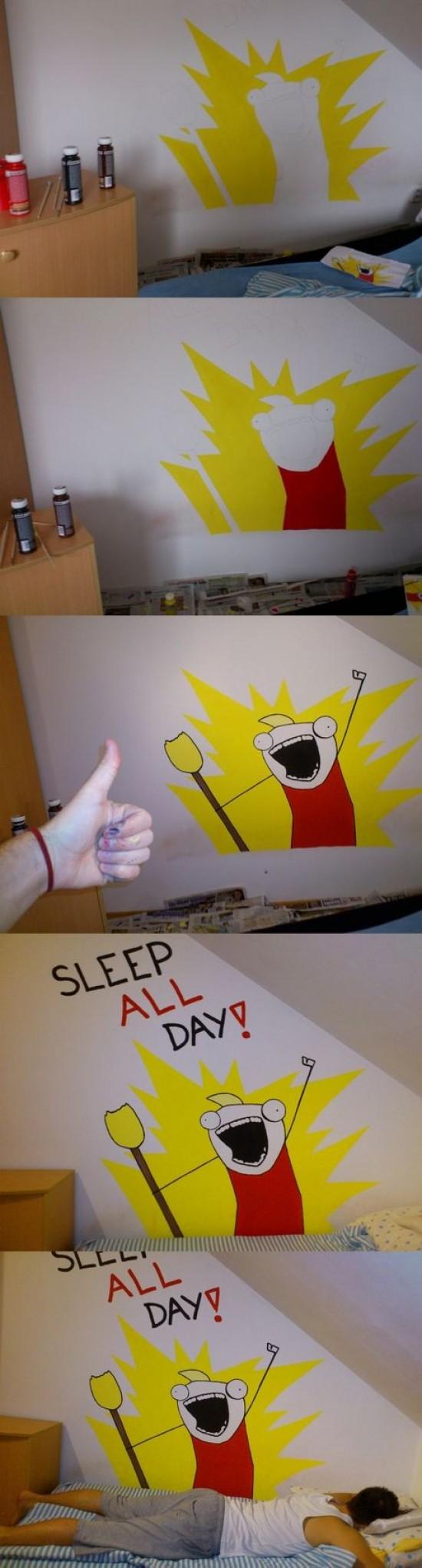 All the things,decoracion,dibujo,dormir,habitacion,pared,pintar
