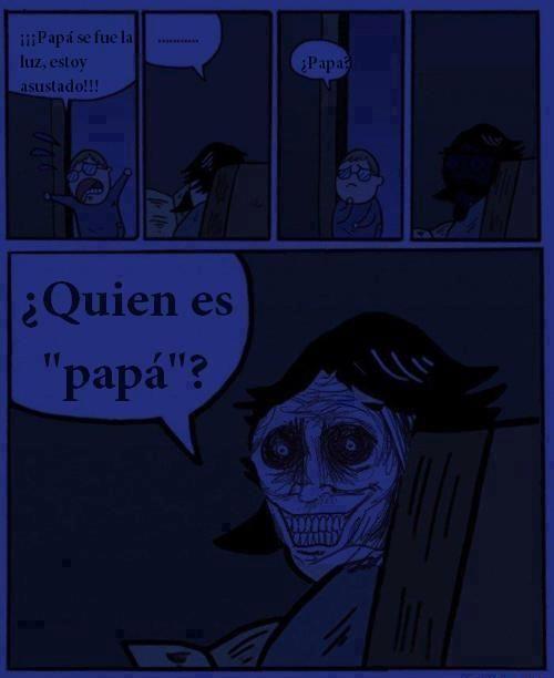 miedo,niño,oscuro,papa,stare dad,susto,terror