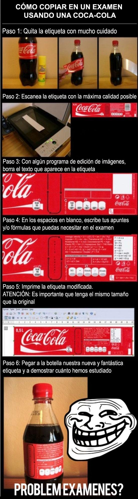Coca-Cola,copiar,examenes,Trollface,Trollscience