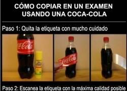 Enlace a Cómo copiar en un examen con una Coca-Cola