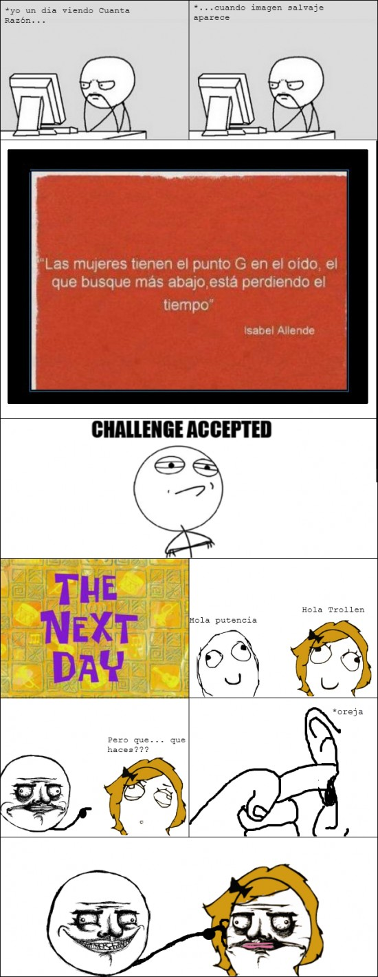 challenge accepted,CR,me gusta,punto g