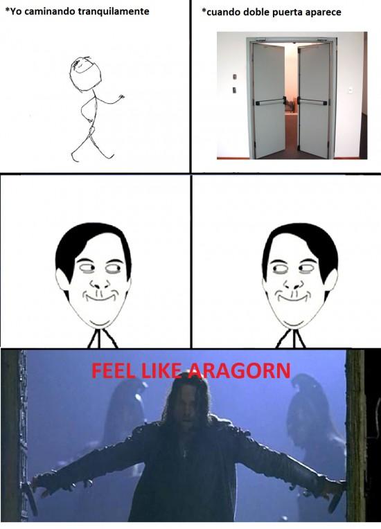 aragorn,doble puerta,el señor de los anillos,feel like,viggo mortensen
