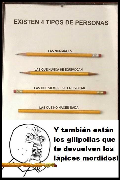lápices,personas,tipos,Y U NO
