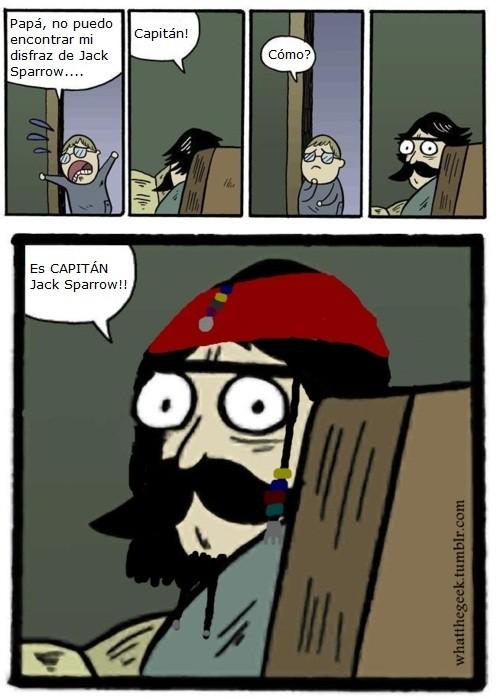 capitán,Jack Sparrow,stare dad