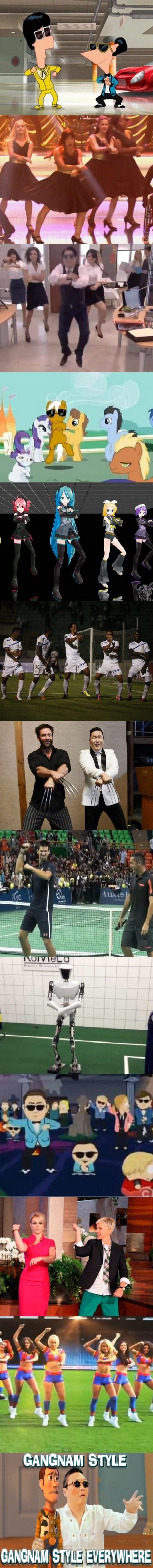 Otros - Gangnam Style, Gangnam Style everywhere