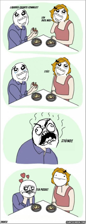 matrimonio,me gusta,novio,pizza,pokerface