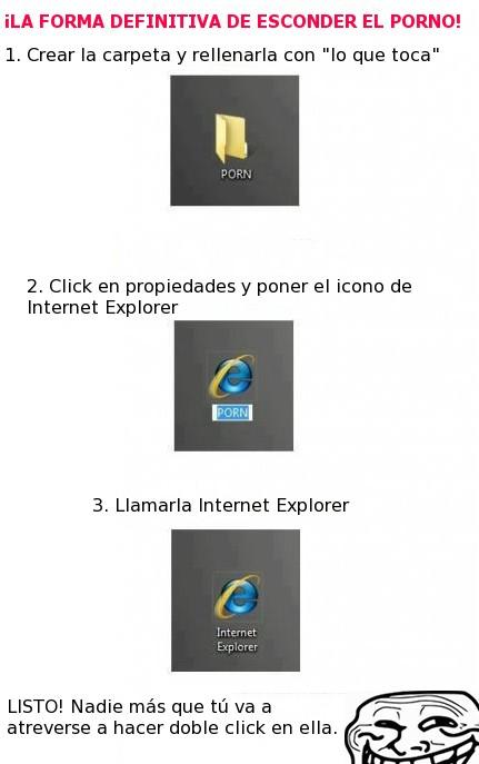 esconder,infalible,internet explorer,truco