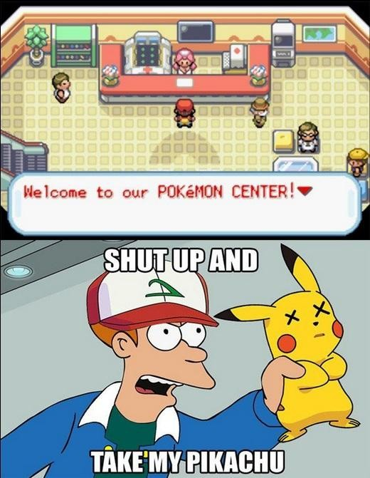 centro,curacion,curar,fry,pikachu,pokemon,videojuegos