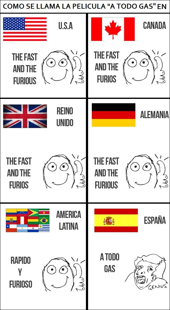 a todo gas,españoles,genius,idiomas,latinos,pelicula,venganza