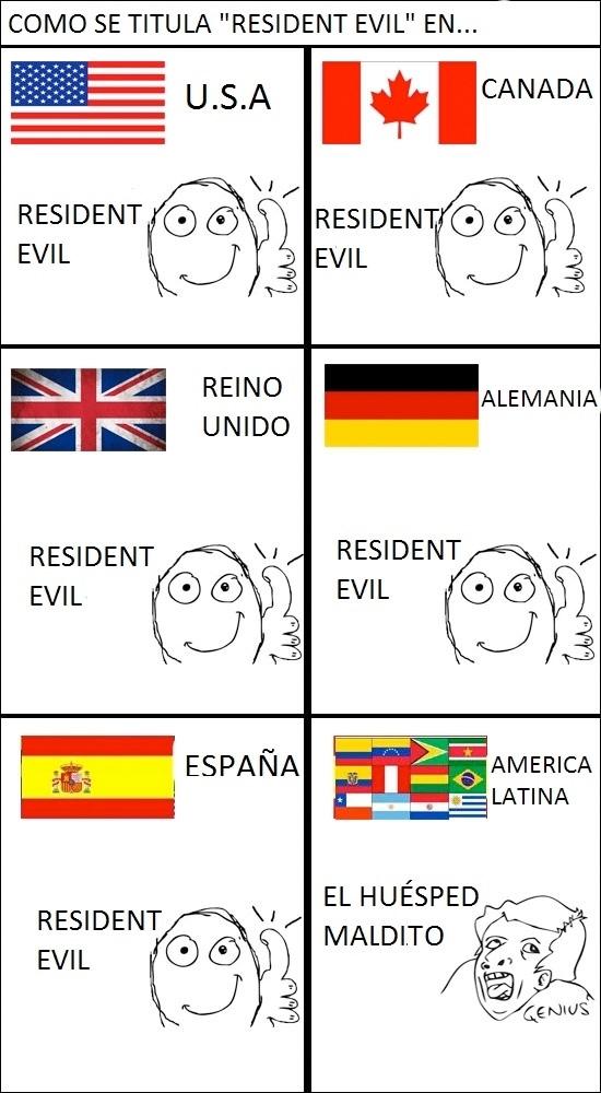 españoles,genius,huesped,Latinos,mal rollo,maltido,resident evil