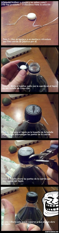 Trollface - Coca-Cola, Mentos y Trollface, mala combinación
