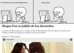Enlace a Malas noticias sobre Megan Fox