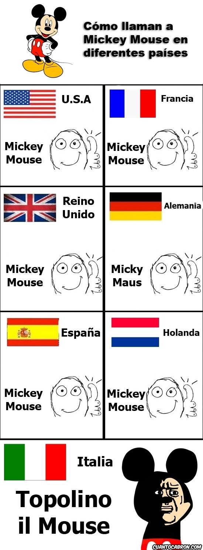 Alemania,España,Francia,Holanda,Italia,Mickey Mouse,oh god why,Reino Unido,Topolino