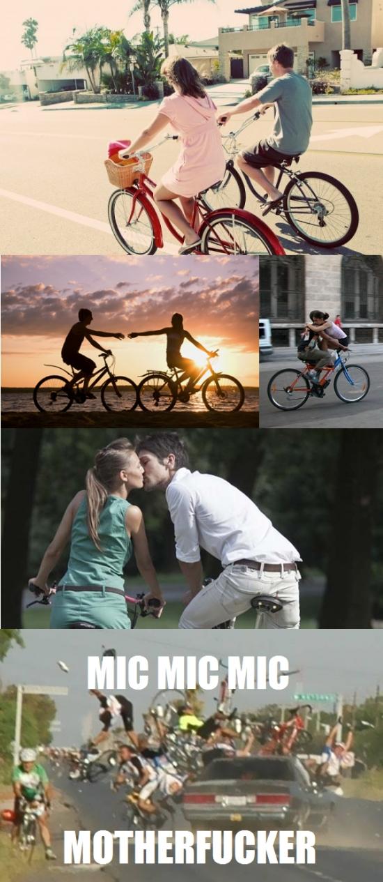 Otros - Cuidado, ciclistas enamorados