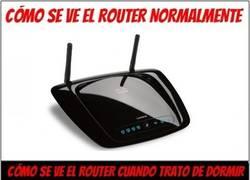 Enlace a La molesta luz del router