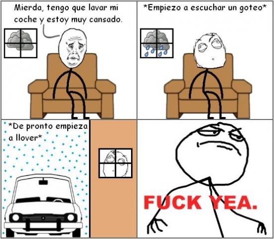 Fuck_yea - Suertudo a la hora de lavar el coche