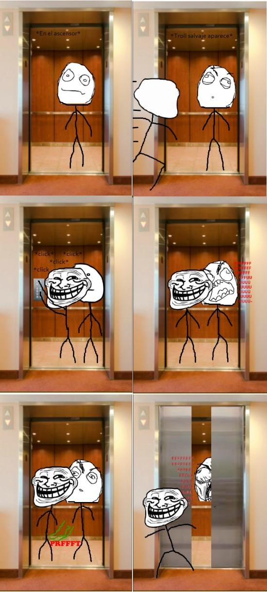 ascensor,escapar,ninja,pedo,putear,trollear