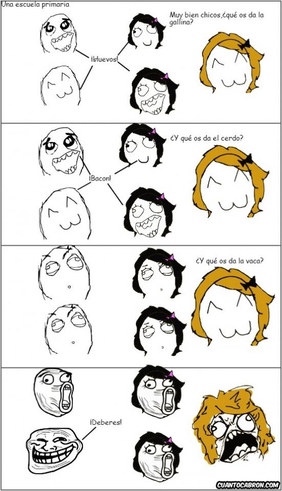 Trollface - Razonamiento infantil